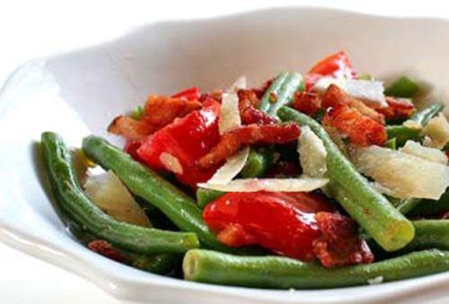 سالاد گرم لوبیا سبز درست کنید