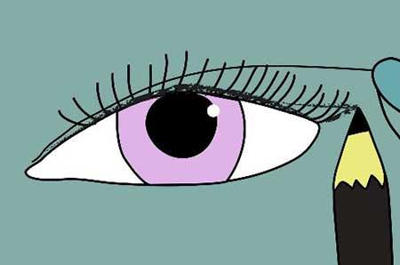 کشیدن خط چشم گربهای