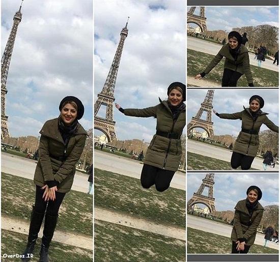 هلیا امامی کنار برج ایفل