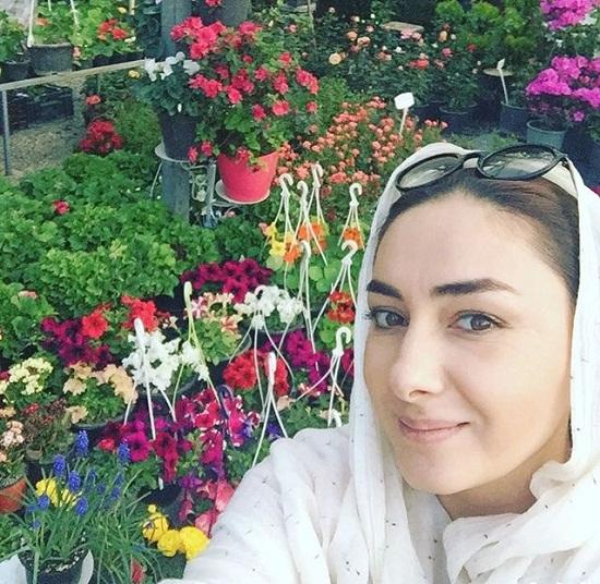 عکس جدید هانیه توسلی در بهار ۹۵