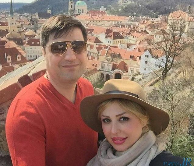 نیوشا ضیغمی و همسرش آرش پولادخان در سال ۹۵
