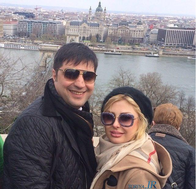 عکس نیوشا ضیغمی و همسرش در خارج کشور