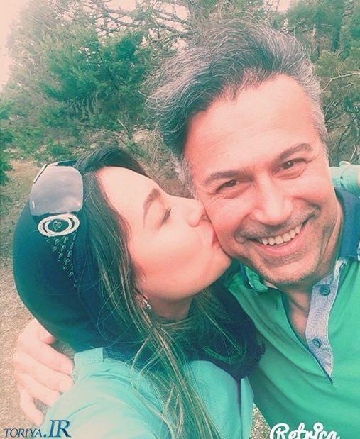 عکس دانیال حکیمی و دخترش