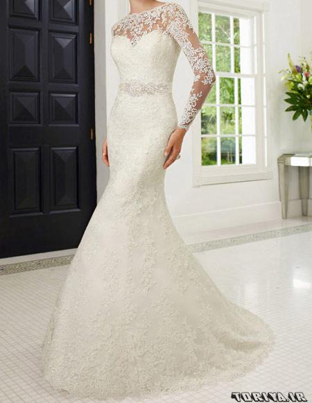 جدیدترین لباس عروس های آستین دار سال 95