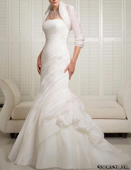 شیک ترین لباس عروس آستین دار