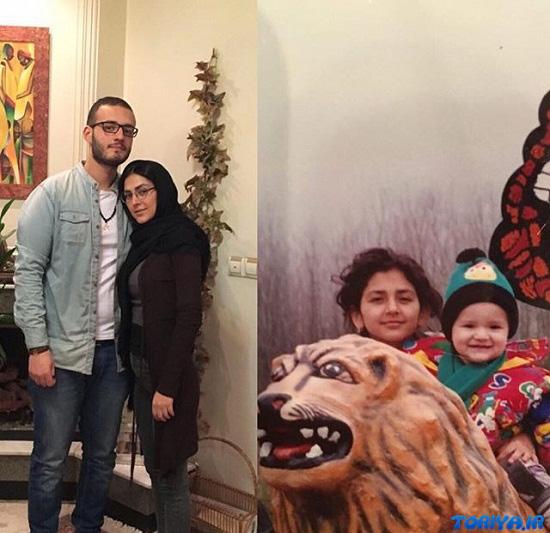 عکس هدی زین العابدین و خواهرزاده اش