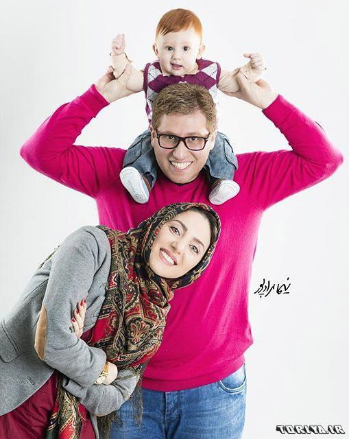 مهسا کرامتی در کنار همسر و پسرش