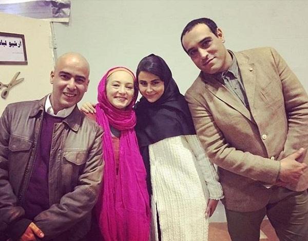 امیر یل ارجمند و همسرش یاسمینا باهر در کنار سحر ولدبیگی و همسرش نیما فلاح