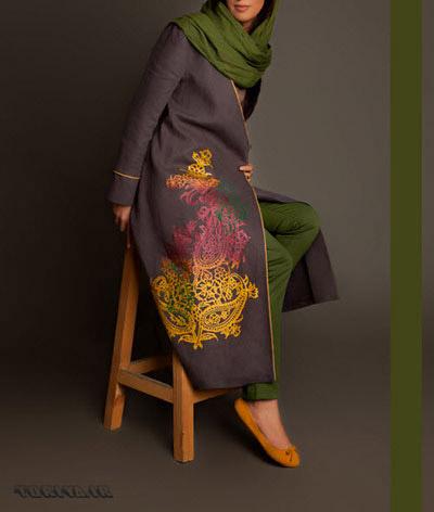 عکس مدل مانتو ساتن بهار 95