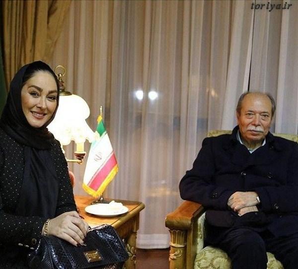 عکس علی نصیریان و الهام حمیدی