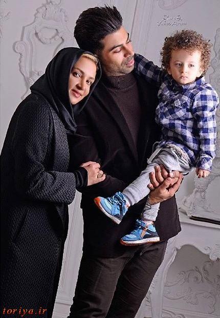 عکس روناک یونسی همراه همسر و فرزندش