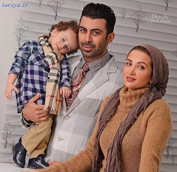روناک یونسی همراه همسر و پسرش مهرسام