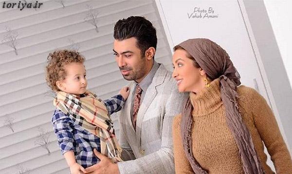 روناک یونسی و همسرش محسن میری و پسرش مهرسام