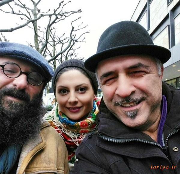 سولماز غنی و همسرش در خارج کشور