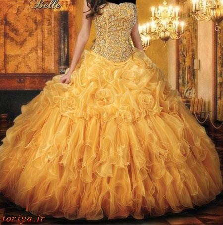 مدل های لباس نامزدی طرح پرنسس