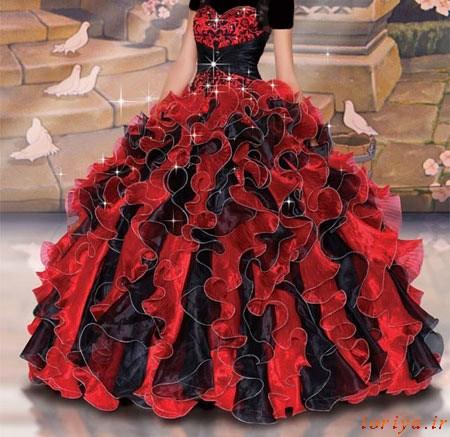 مدل های لباس نامزدی طرح پرنسس 2016-95