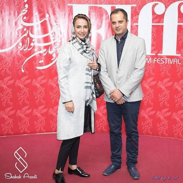 شبنم قلی خانی و همسرش در جشنواره بین المللی فیلم فجر