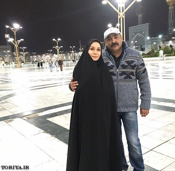 حدیث فولادوند و همسرش رامبد شکرابی در حرم امام رضا (ع)
