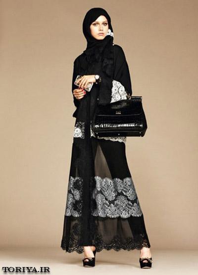 مدل مانتو عربی دخترانه  D&G