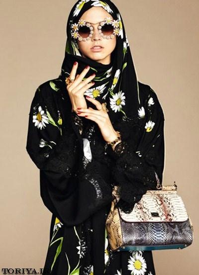مانتو عربی برند D&G