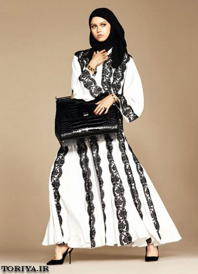 مدل مانتو و شال عربی