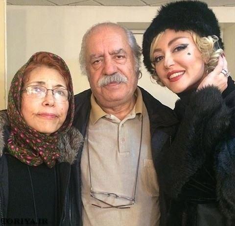 شقایق فراهانی و پدر و مادرش