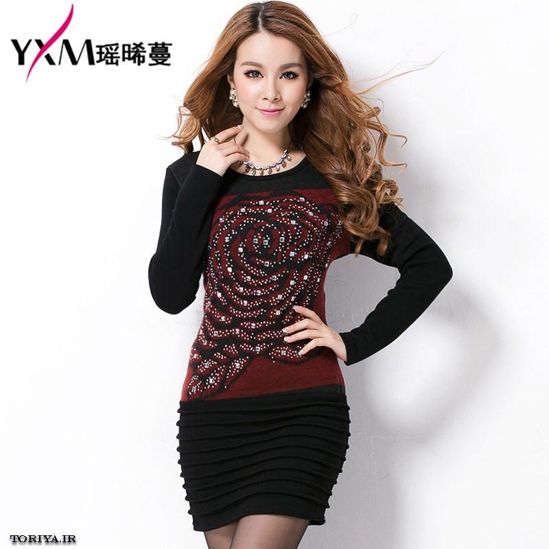 لباس دخترانه کره ای پولک کار شده