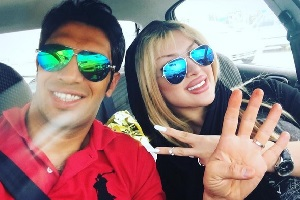 سپهر حیدری و همسرش در بام رامسر + عکس
