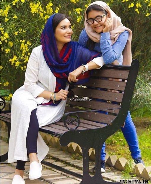 عکس لیندا کیانی و خواهرزاده اش عسل