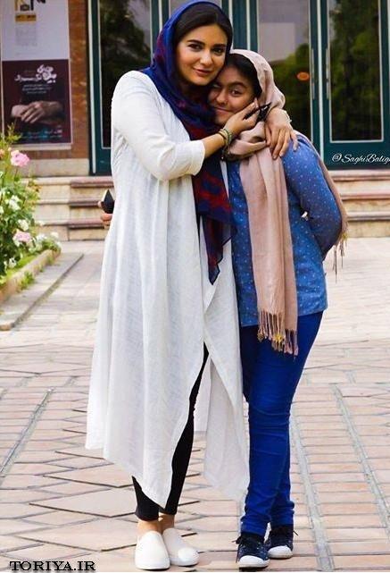 لیندا کیانی و خواهرزاده اش عسل