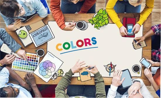 رنگ هایی برای شادمانی در محل کار