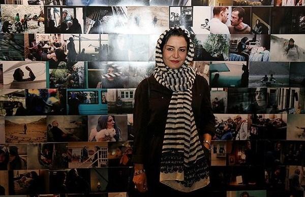 مریلا زارعی در باغ موزه قصر