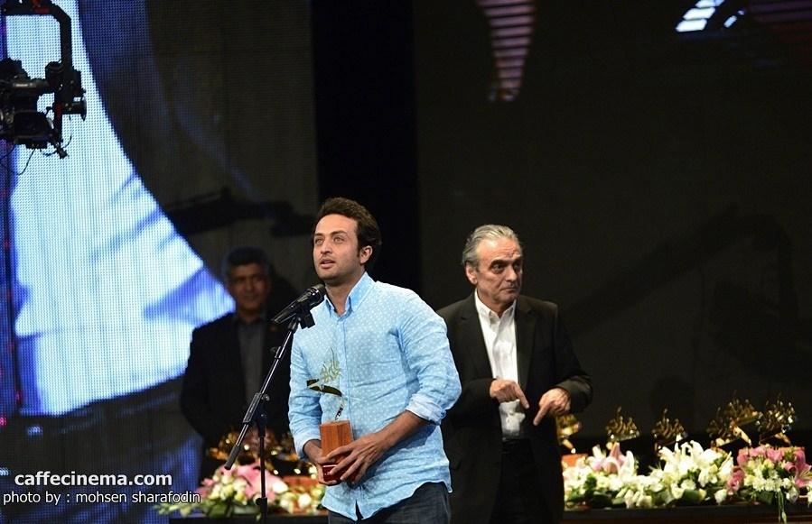 تجلیل از مصطفی زمانی در جشن سریال شهرزاد توسط همایون ارشادی