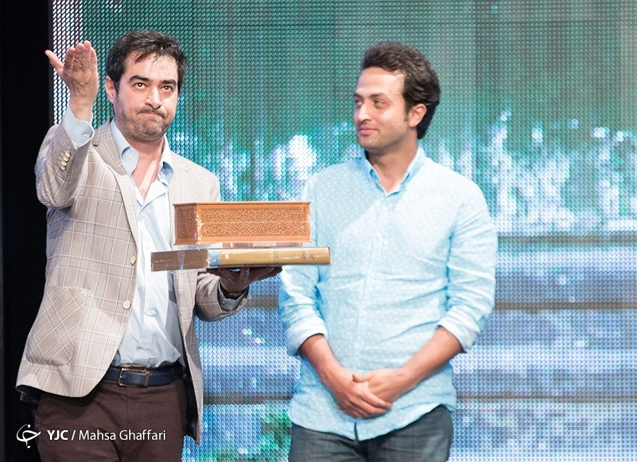 شهاب حسینی و مصطفی زمانی در جشن سریال شهرزاد