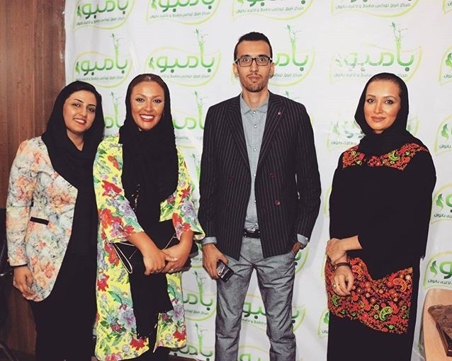 عکس روناک یونسی و زیبا بروفه در افتتاح یک سالن ورزشی در بندرعباس