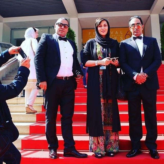 عکس مهتاب کرامتی روی فرش قرمز جشنواره کن 2016