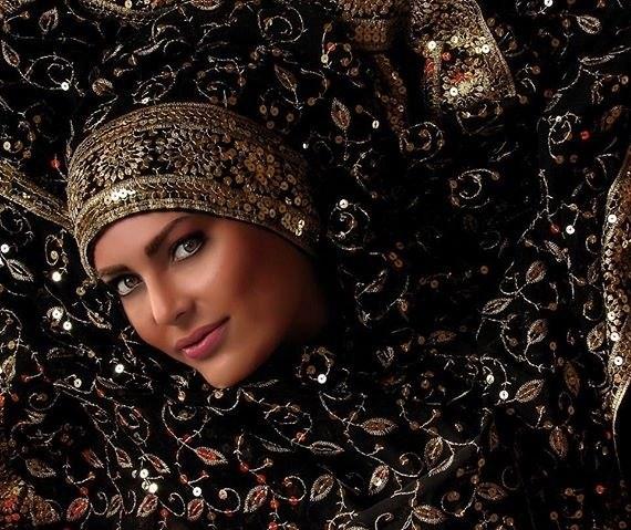 عکس اتلیه ای فریبا آهنگ ، عکس فریبا آهنگ با لباس هندی