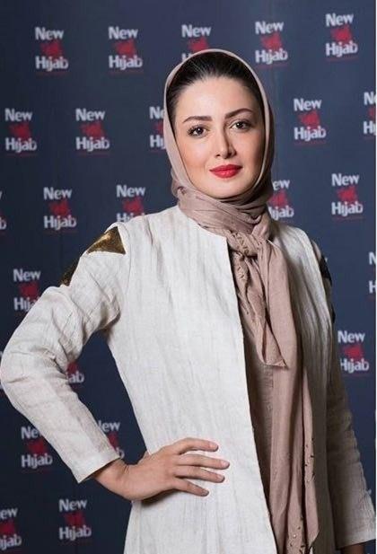 عکس شیلا خداداد در فروشگاه برند نیو حجاب