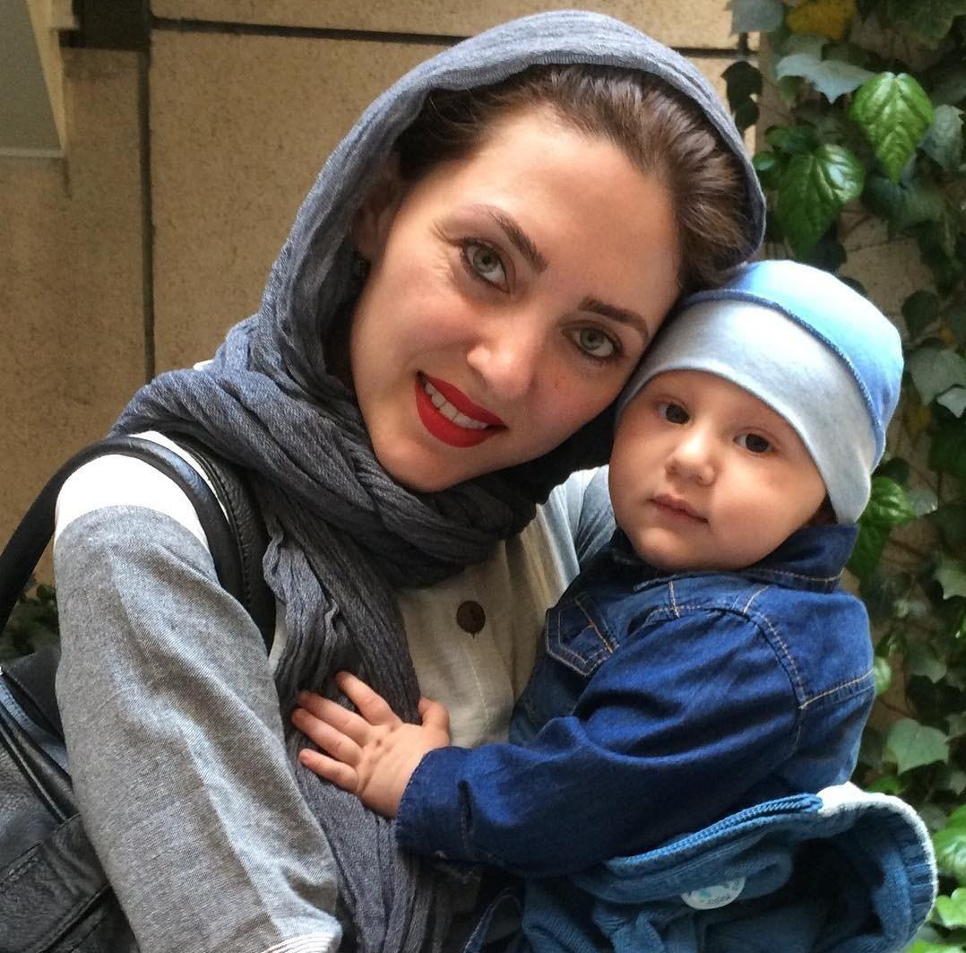 تصاویر مهسا کرامتی و فرزندش