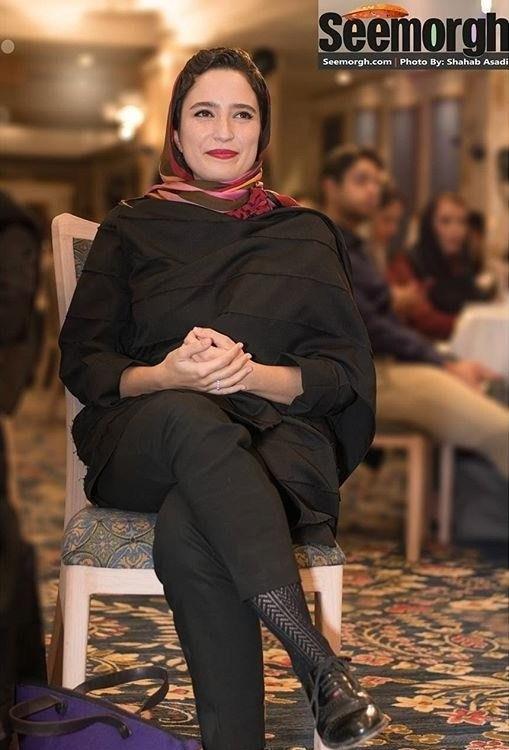 تصاویر نگار جواهریان در جشن روزنامه سینما