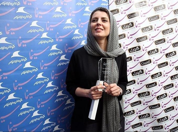 عکس لیلا حاتمی در جشن روزنامه سینما