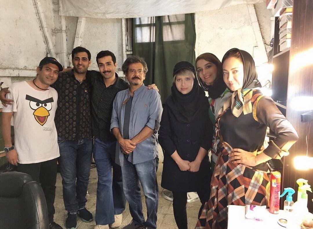 عکس نیکی کریمی در پشت صحنه سریال سرزمین کهن