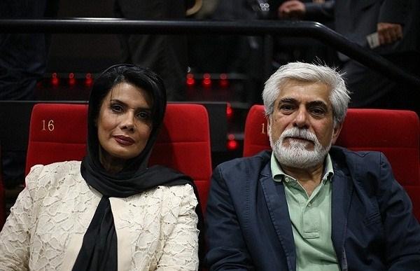 عکسهای عاطفه رضوی و همسرش در اکران فیلم ایستاده در غبار