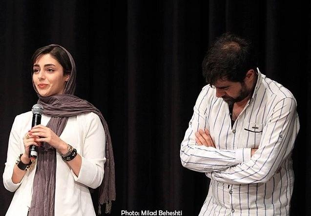 شهاب حسینی و هستی مهدوی در جشن گلریزان