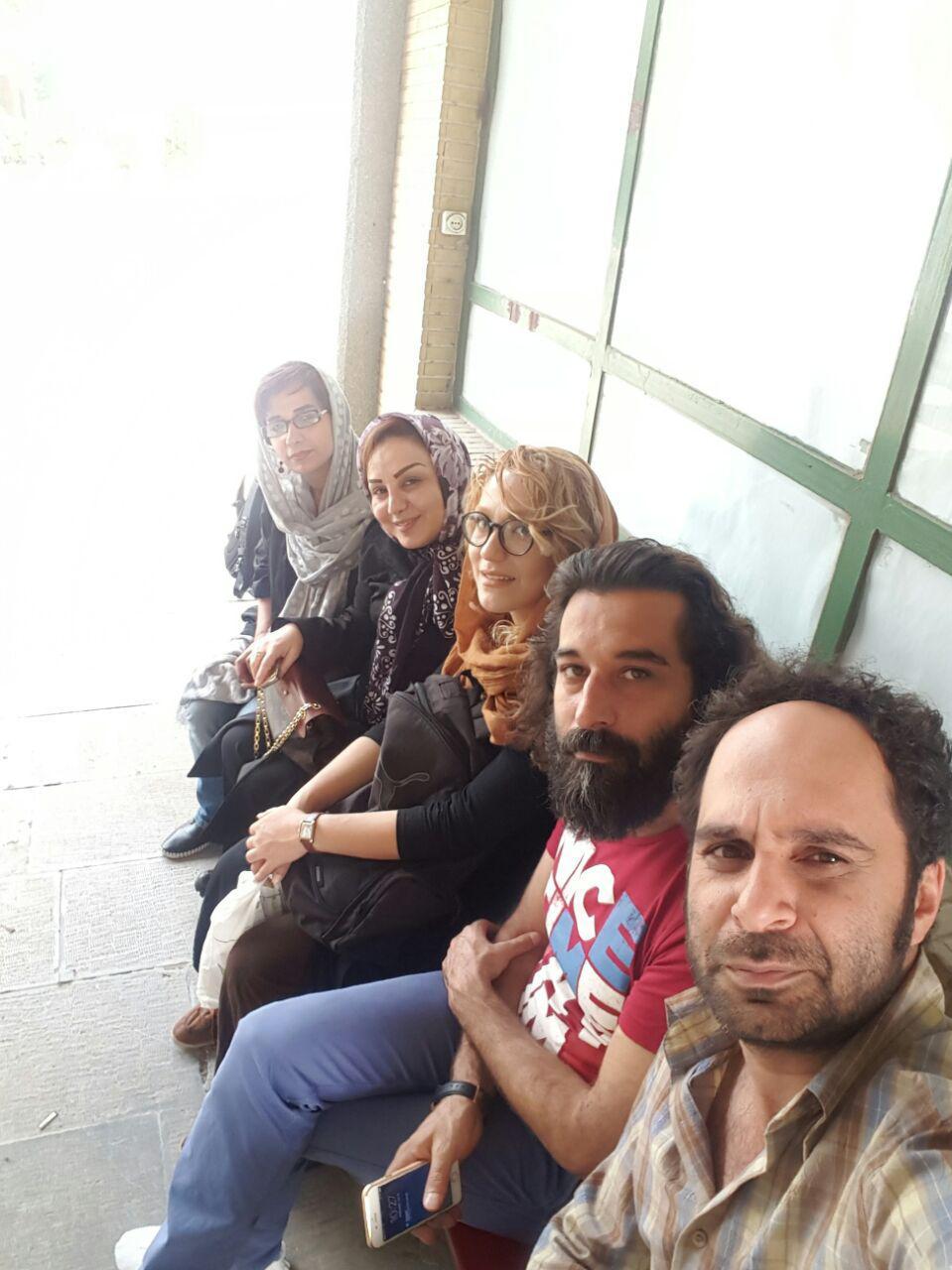 بهنوش بختیاری در پشت صحنه فیلم سینمایی اینجا امن نیست کارگردان احمد معظمی