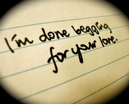 محبت را گدایی نکن!