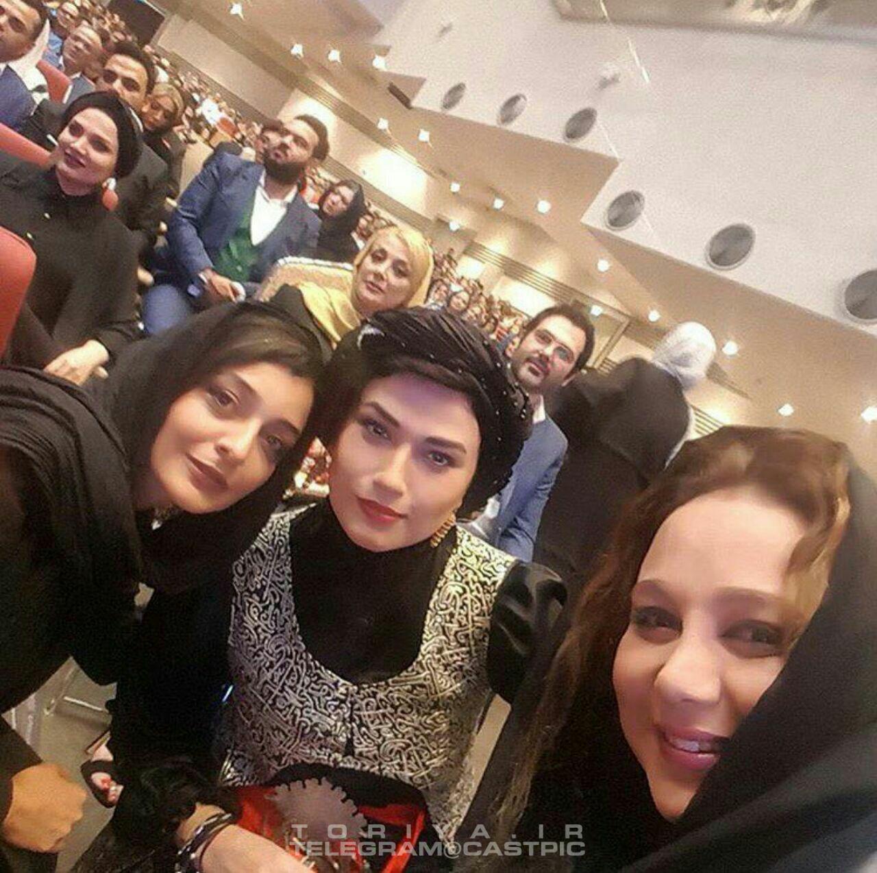 بهنوش بختیاری لادن مستوفی و ساره بیات در هفدهمین جشن حافظ