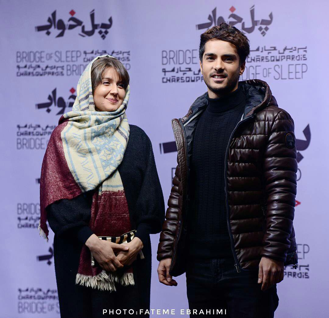 عکسهای ساعد سهیلی و همسرشون گلوریا هاردی در اکران خصوصی فیلم پل خواب