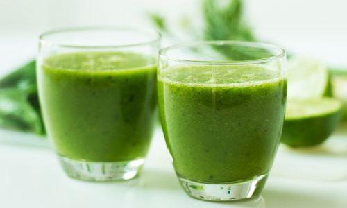 یک نوشیدنی سبز لاغر کننده