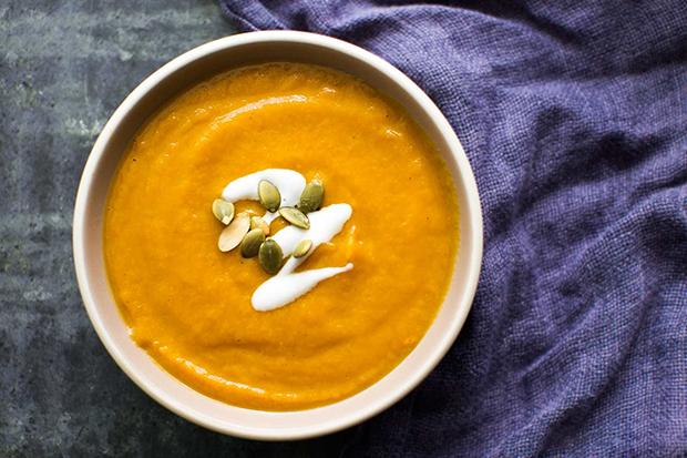 طرز تهیه سوپ کدو تنبل ادویه دار